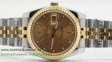 Rolex Date Just Automatic S/S 36MM Sapphire RXG373