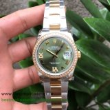 RXGR Rolex Datejust Suisse ETA 2836 Automatic S/S 36MM Sapphire Diamonds RXGR39