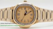 Patek Philippe Quartz Diamonds Bezel S/S PPW6