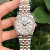 RXGR Rolex Datejust Suisse ETA 2836 Automatic S/S 36MM Sapphire Diamonds RXGR49