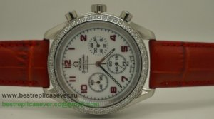 Omega Speedmaster Female Working Chronograph Diamond Bezel OAW13