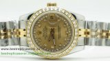 Rolex Date Just Automatic S/S Diamonds Bezel RXW30