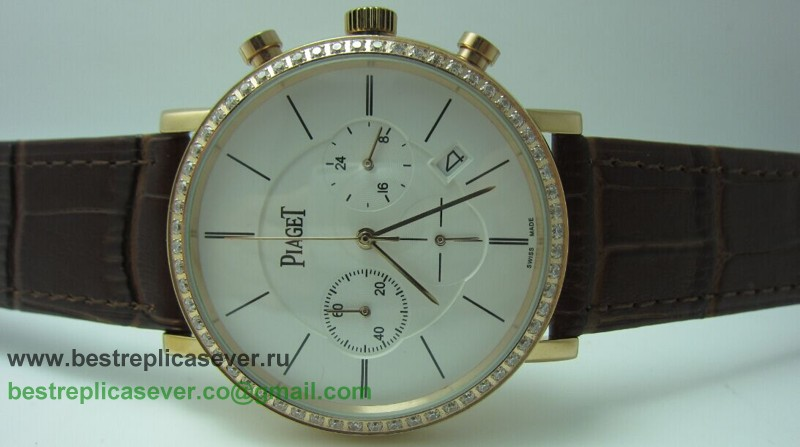 Piaget Working Chronograph Diamonds Bezel PTG29