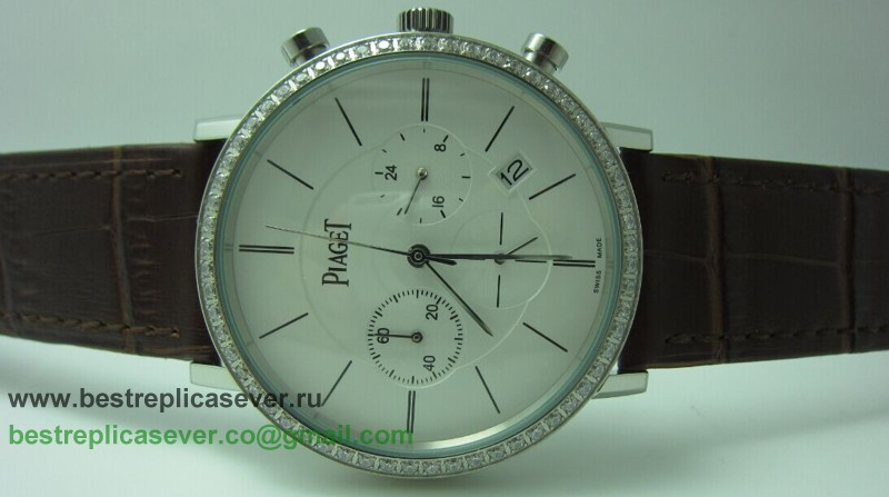 Piaget Working Chronograph Diamonds Bezel PTG30