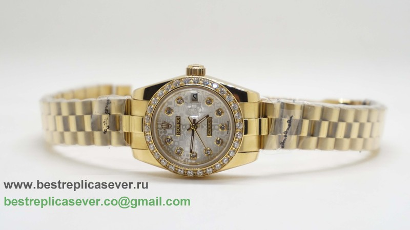 Rolex Date Just Automatic S/S Diamonds Bezel RXW53