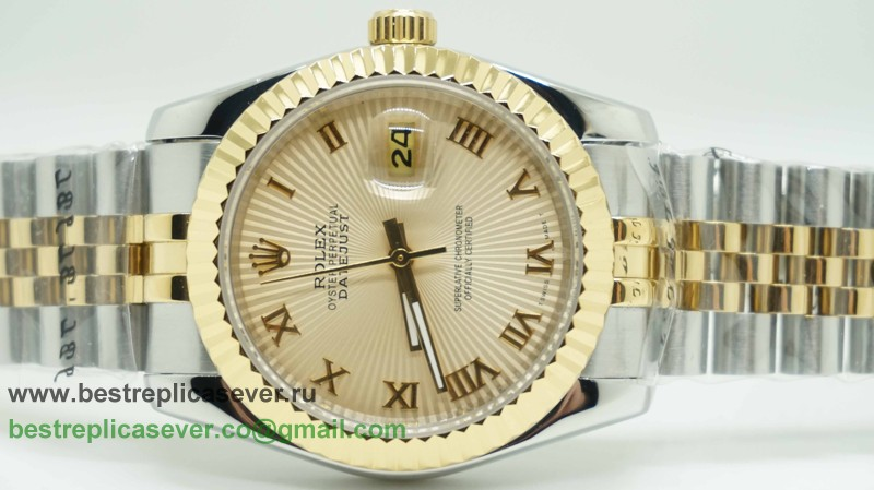 Rolex Date Just Automatic S/S 36MM Sapphire RXG251
